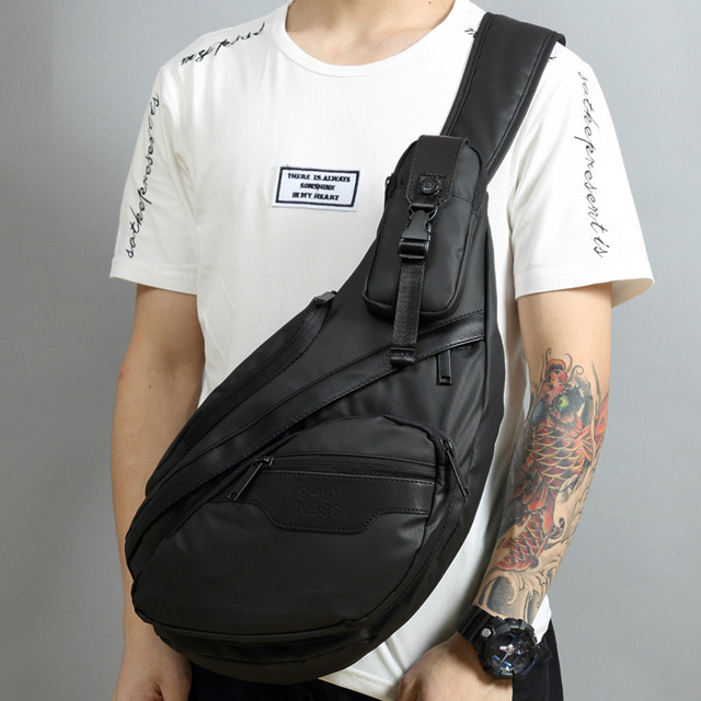Men Waterproof Nylon Sling Chest Back Pack High Quality Casual Messenger Shoulder  Male Cross Body Bag Fashion Rucksack Knapsack