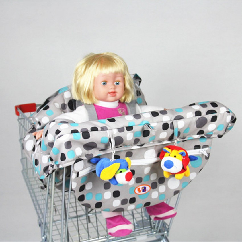 Soft Comfortable Baby Shopping Cart Covers Portable Folding Mat Covers Fashion I