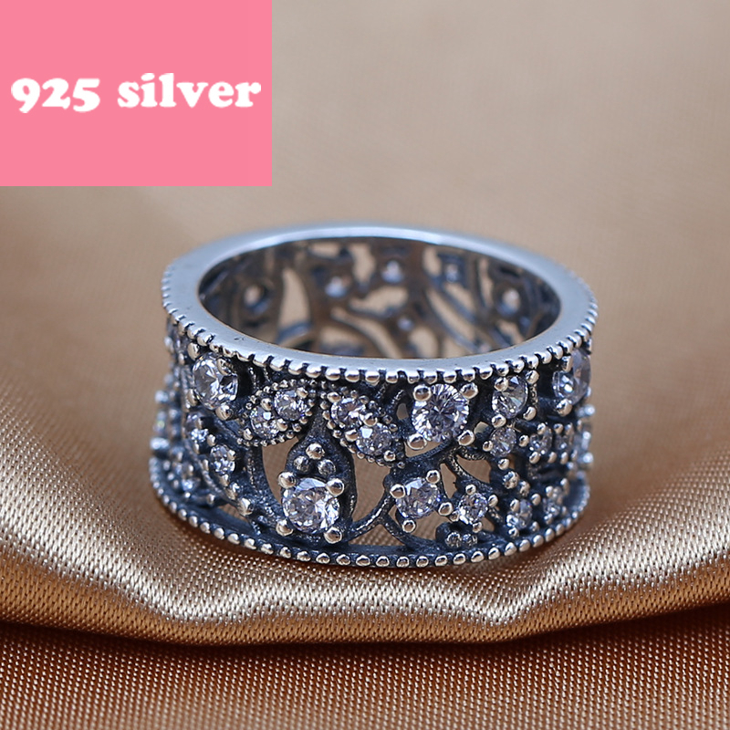 PJR084 hot sale 925 silver ring . hollowed-out ring with stone luxury Accessories. Fashion women Accessories birthday present