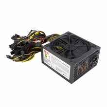 1600W Power Supply For 6GPU Eth Rig Ethereum Coin Mining Miner Dedicated 90 Gold High Efficiency Stable Performance