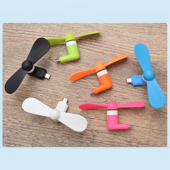 FFFAS Micro USB Mute Fans Mobile Phone USB Gadget Fan Summer USB Windmill Ventilador for Samsung Android Drop Shipping Wholesale