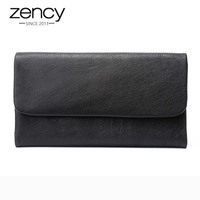 Zency New Sale Women Long Purse 100 Genuine Leather Fashion Female Standard Wallet Multi Card Holders