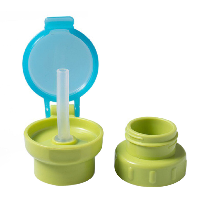 Kids Cups Children Feeding Drinking Cup Cover With Straw For Bottle PP Resin Nursing Cover Baby Food Mill Water Bottles Straw