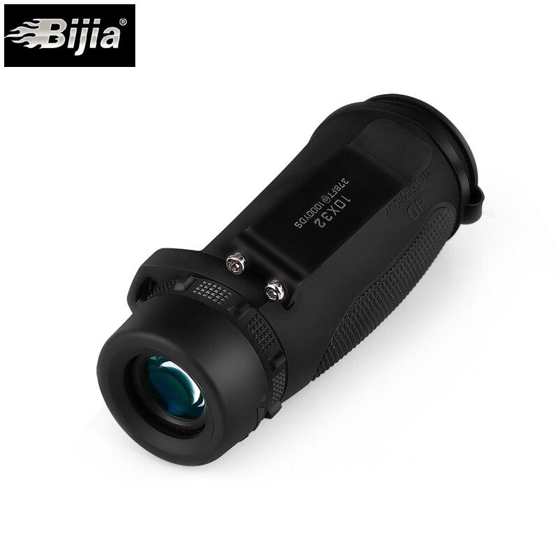 BIJIA Monocular-teleskop 10X32 Wasserdicht mit BAK4 Prism Optics Teleskop für Outdoor Jagd Traval