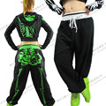 New Fashion Women's clothing Skull loose pants ds costumes , Performance pants casual hip hop trousers