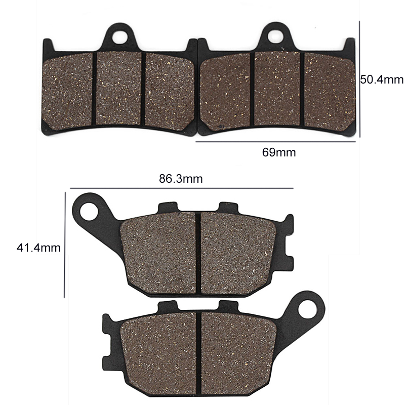 Cyleto Front Brake Pads for YAMAHA YZF R6 YZFR6 2005 2006 2007 2008 2009 2010 2011 2012 2013 2014 2015