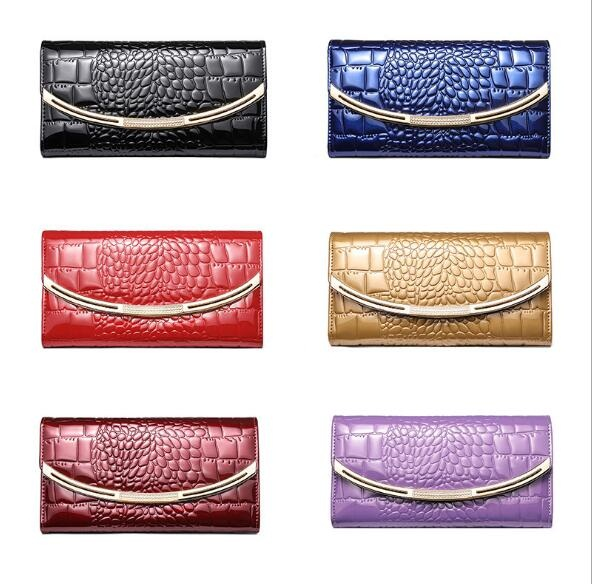 цены 2017 LKPRBD Vintage quality Leather Long Fashion Women Wallets Designer Brand Clutch Purse Lady Party Wallet Female Card Holder