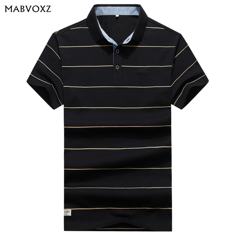 Nianjeep   Polo   Shirts Men New 2018 European and American Cool Summer Breathable Striped Short Sleeve   Polos   Casual Brand Clothes