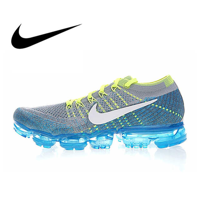 brand new 544d5 63bbb Original Authentic Nike Air Vapormax Flyknit Men s Running Shoes Sport  Outdoor Sneakers Athletic Designer Footwear 2019