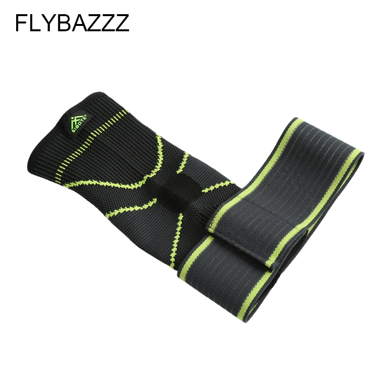 FLYBAZZZ 1PCS 3D Weaving Elastic Nylon Strap Ankle Support Brace Badminton Basketball Football Taekwondo Fitness Heel Protector (6)