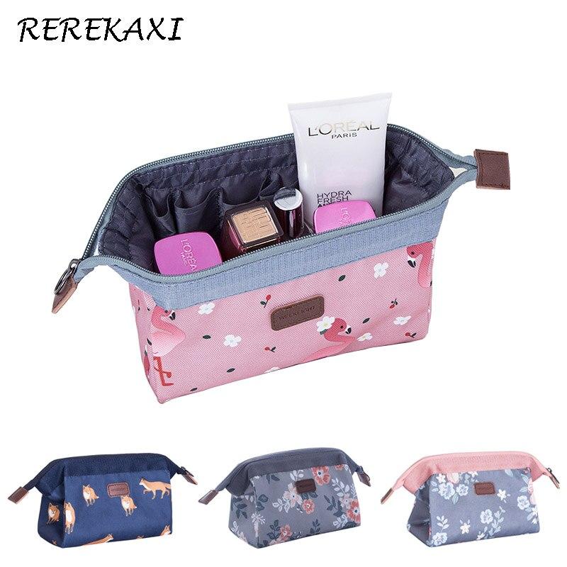 REREKAXI Portable Multifunction Women Beautician Travel Cosmetic Bag Organizer Case Makeup Bag Wash Pouch Toiletry Bags
