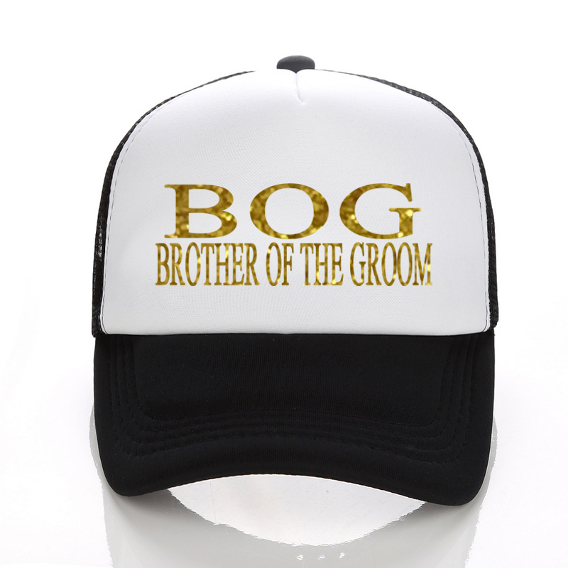 DongKing Summer Cool Black Mesh Trucker Caps BROTHER OF THE GROOM Baseball Caps Hats Adjustable For Men