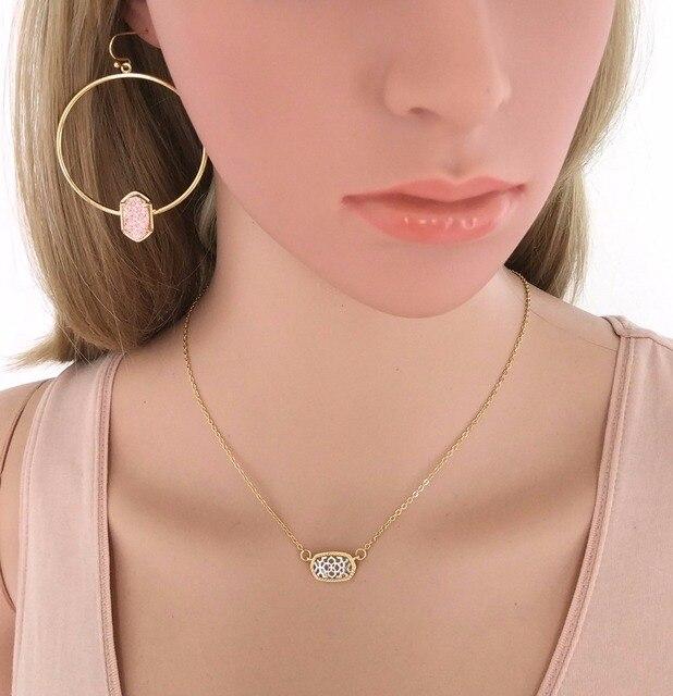 Geometric Oval Jewellery set 6