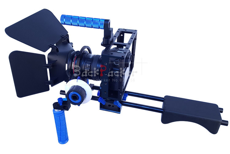 DSLR Rig Photography suite Camera Double Handle DSLR Shoulder Rig Kit Wedding photography camera For 5D2 5D3 60D 70D dslr rig double hand handgrip shoulder