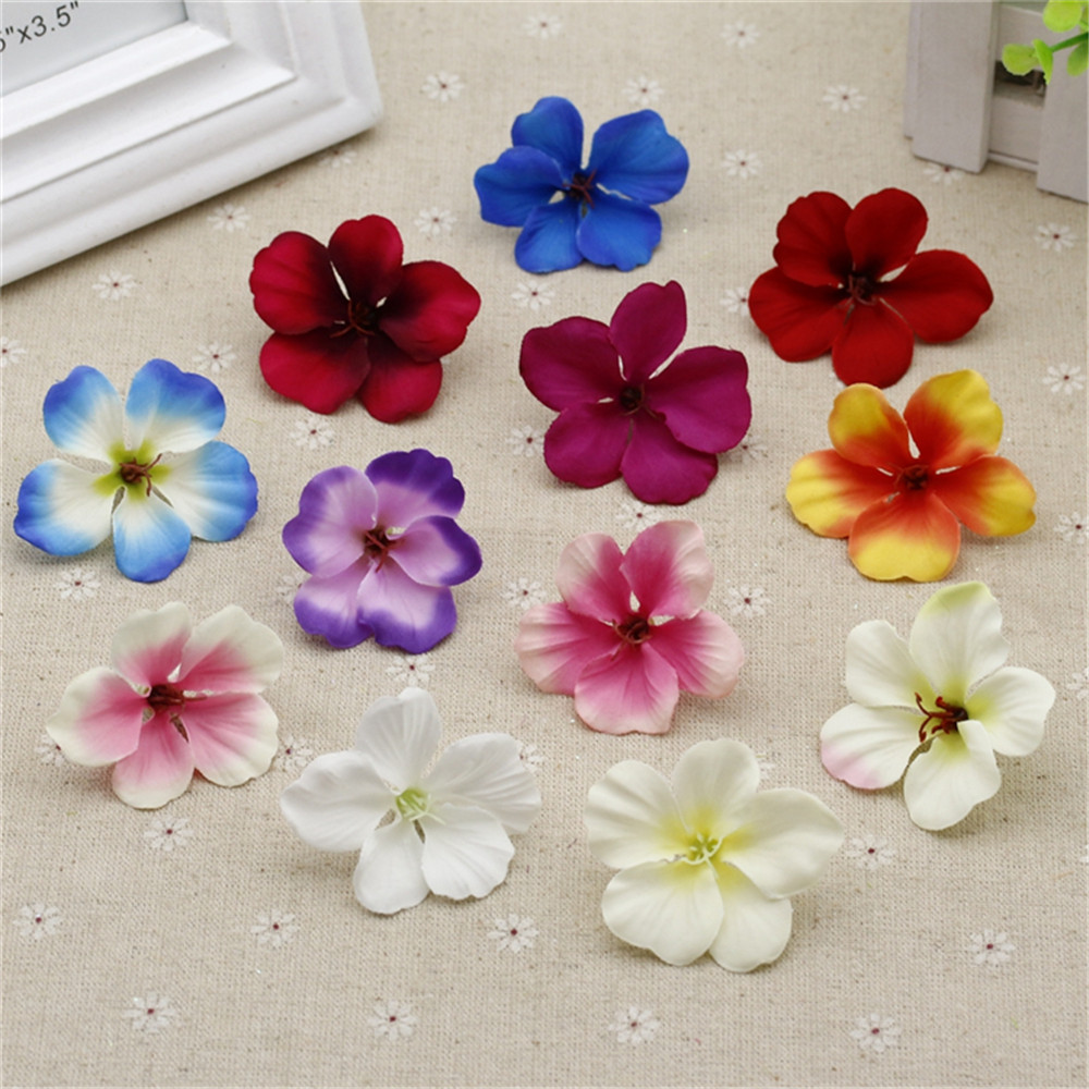 10pcs spring silk gradient orchid artificial flower for Artificial flower decoration for home