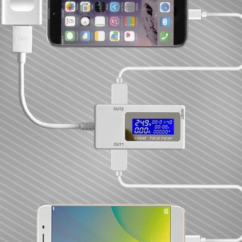 amperímetro carregamento testador monitor portas usb display