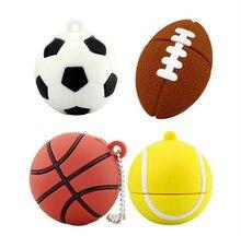 Pendrive Fußball USB Stick 64 GB 8 GB 16 GB 32 GB Cartoon basketball modell USB 2.0 Flash Memory Pen Drive 100% volle Kapazität
