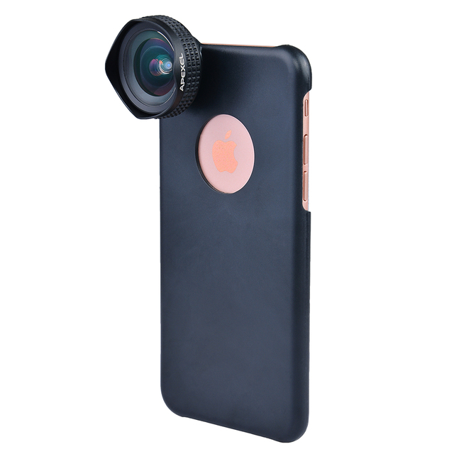 Apexel Optic Pro Lens Super Wide Angle 100 degree High Clarity Cell Phone Camera Lens Kit for iPhone X 8 More smartphones 18MM 3