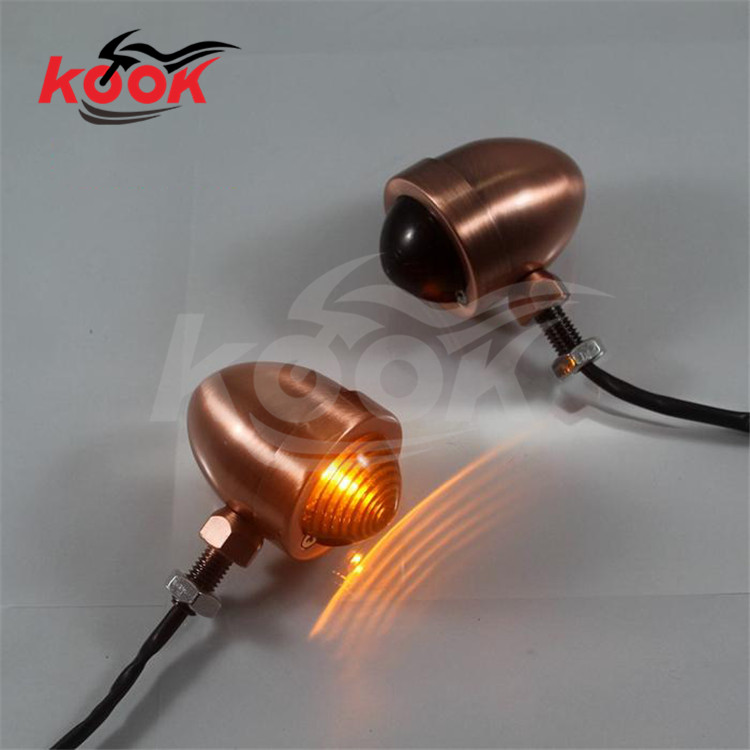 vintage motorcycle Turn signal light LED smoke lens motocross ATV Off-road flasher moto Indicator dirt pit bike scooter parts