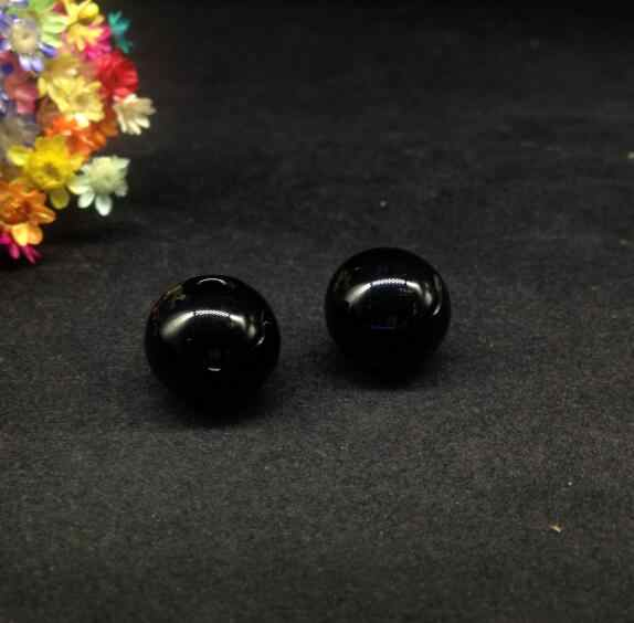 10ピース黒色ガラス地球儀オーブボールバブルdiyジュエリーガラスバイアルペンダントネックレスガラスボトルドームカバーロケットチャームギフト