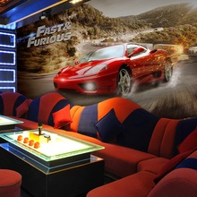 Free Shipping Speed and passion speed car wallpaper mural bar KTV Theme Room restaurant car wallpaper(China (Mainland))