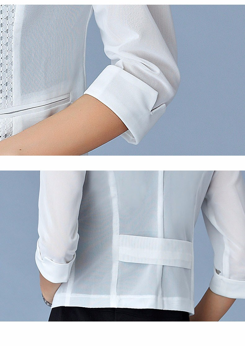 Women Black White Gauze Jacket Summer 2016 Chiffon Cardigan Sexy 34 Sleeve Plus Size Slim Jackets Office Lady Coat Tops A385  k