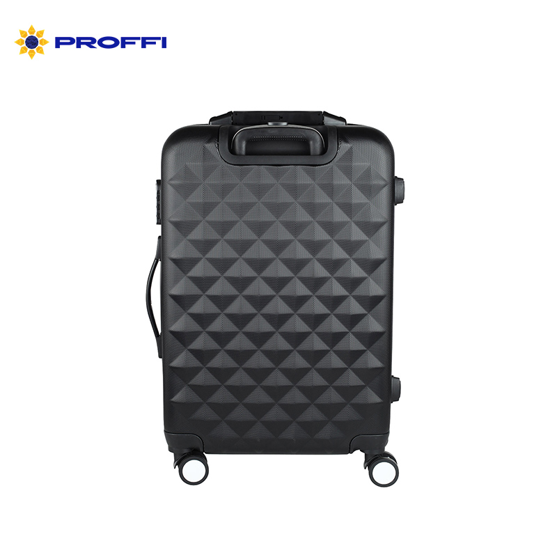 Stylish black suitcase PROFFI TRAVEL PH8645black M plastic, with built-in scales medium combination lock on wheels on wheels pro skit 8pk 02730 in 1 sae6150 metric inch combination hex key wrench set black
