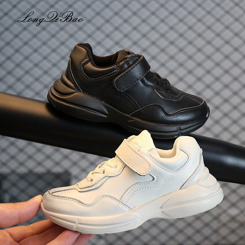 2018 Herbst Kinder Schuhe Casual Schuhe Kinder Sport Schuhe Reiben Farbe Jungen Und Mädchen Leder Turnschuhe