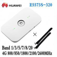 Открыл Huawei e5573 e5573s-320 Cat4 150 Мбит/с Беспроводной мобильного МИФИ Wi-Fi роутера + 2 шт. антенны pK MF90 R215 E5577