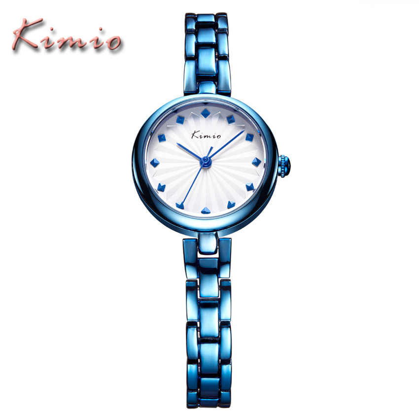 KIMIO Luxury Brand Business Ladies Watch Gold Fashion Casual Relogio Feminino Women Stainless Steel Quartz Wristwatch Clock 2017 kimio luxury women dress bracelet watches business casual clock waterproof stainless steel analog quartz watch relogio feminino