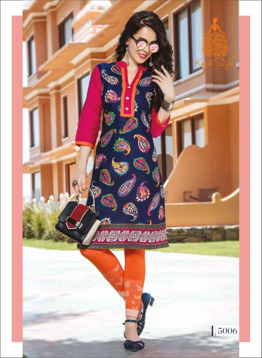 33b304c60b Indian Traditional Kurti 3 Quarter Sleeve Cotton Kurta Bollywood Designer  Stylish Tunic Printed Top Women Dress