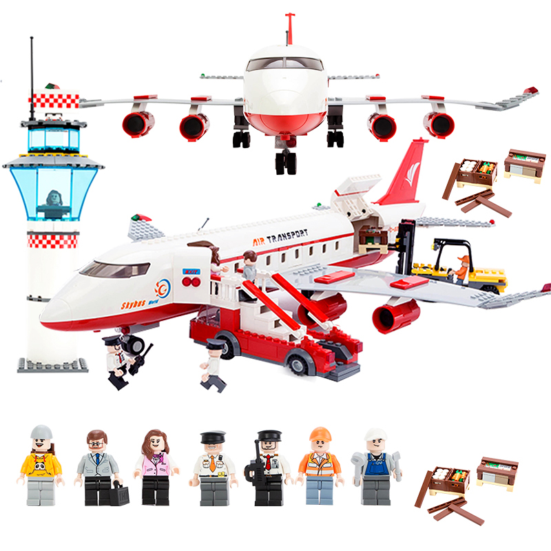856Pcs 8913 City Series Air Bus Large Passenger Aircraft Building Blocks Compatible With Legoing AirPlane Toys For Children Boys gudi city passenger plane airplane blocks 856pcs bricks building blocks sets educational toys for children