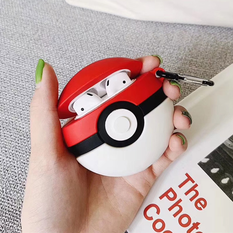 Image 3 - For AirPods Apple Case 3D Cartoon Pokemons Eevee Gengar Headphone Case For Airpods 1 2 Silicone Case Accessories Protector Cover-in Earphone Accessories from Consumer Electronics