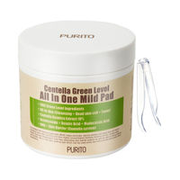 PURITO Centella Green Level All In One Mild Pad 70pcs Face Cleansing Mask Makeup Residue Blackhead Acne Remove Facial Care Pad
