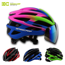 BASECAMP New Bicycle Helmets Sunglasses Cycling Glasses 3 Lens Integrally Molded Men Women Mountain Road Bike Helmets H5006