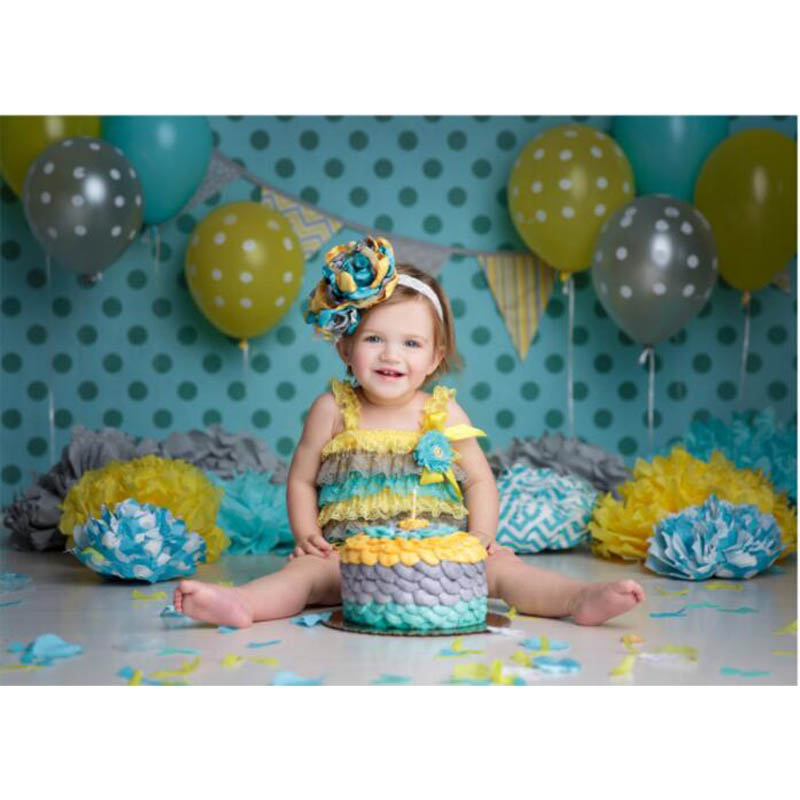 New 3X5ft happy children's birthday party backgrounds newborn props and backdrops photography background baby Free Ship g-014