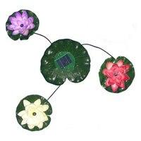 Năng lượng mặt trời Power LED Lotus Flower Floating Pond Vườn Ánh Sáng Đài Phun Nước Đèn Ng
