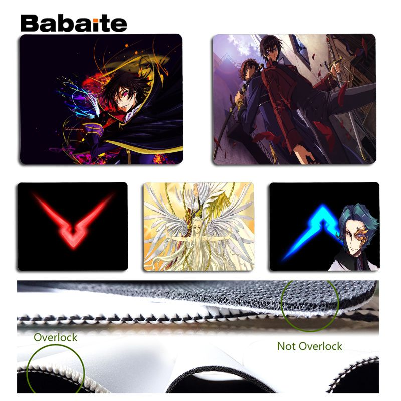 Babaite Non Slip PC CODE GEASS Lelouch of the Rebellion Customized laptop Gaming mouse pad Size for 18x22cm 25x29cm Mousemats