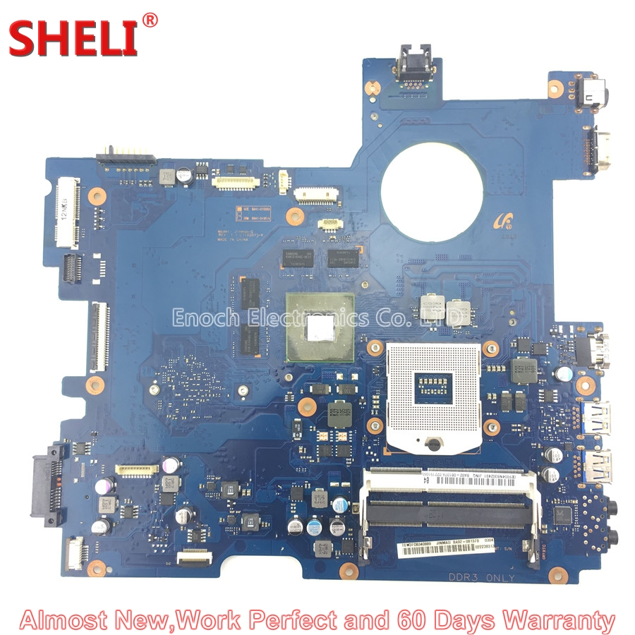SHELI BA92-08137A BA92-08137B Laptop Motherboard For Samsung RC512 NP-RC512 BA41-01598A Jinmao-Q HM65 GT525M DDR3 Main Board