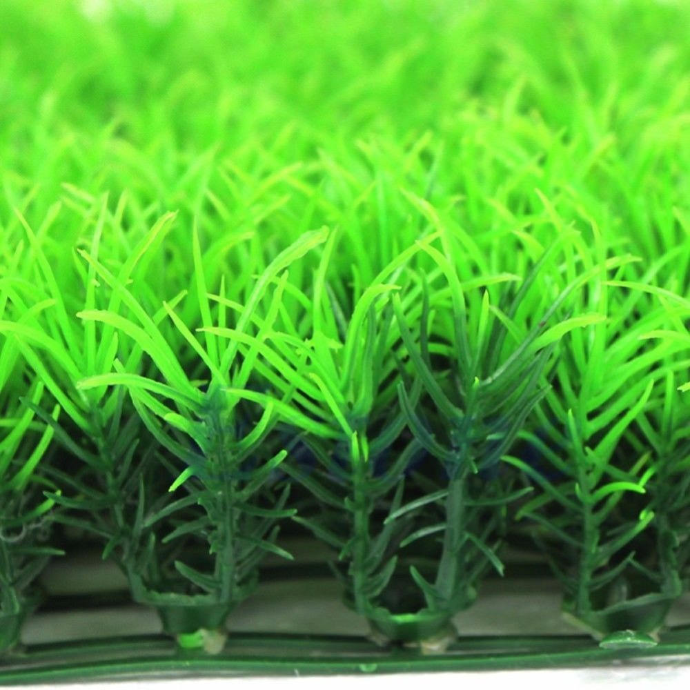 Free shipping Artificial Water Aquatic Green Grass Plant Lawn Aquarium Fish Tank Landscape New
