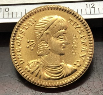 352-361 Years 1 Solidus-In the name of Constantius II Copy Coin image