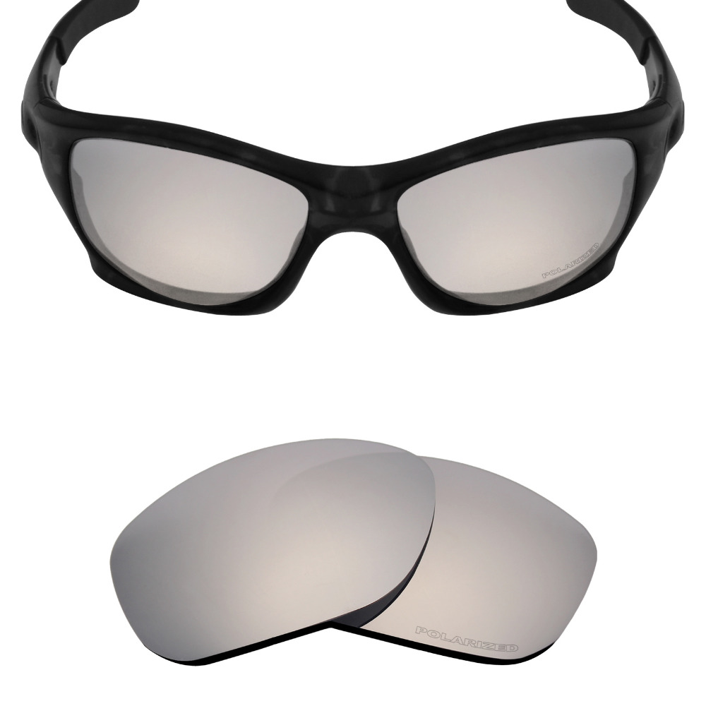 Mryok + поляризационные противостоять морской Замена Оптические стёкла для Oakley питбуль Солнцезащитные очки для женщин Серебряный Титан