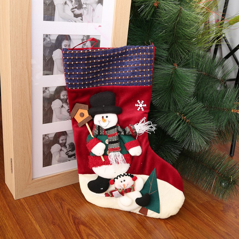 New arrival Santa Claus Snow Man Doll Christmas Decorations socks hang on Tree Gadgets Ornaments Doll Christmas Gift 9 Styles ...