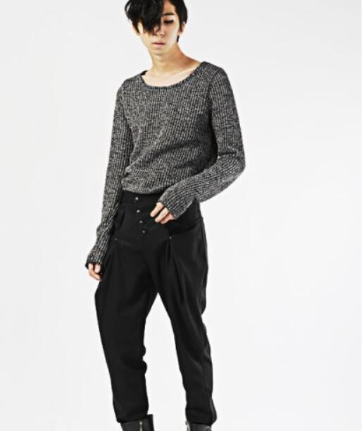 27-44 Big yards mens trousers Summer 2017 male slim harem pants great boot cut jeans novelty trousersThe singers clothing
