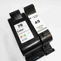 vilaxh 45 78 Compatible Ink Cartridge Replacement for HP 78A 45A 51645A C6578A For Deskjet 1120c 1125c 1180c 1220c 9300 Printer