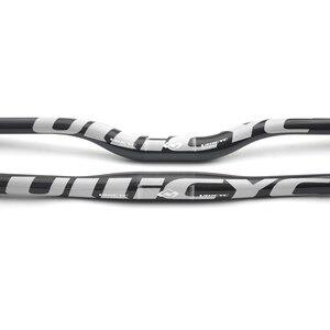 Image 4 - Ullicyc Full Carbon Fiber Handlebar 3K Bicycle MTB Handlebar Flat/Rise Silver Bike parts 31.8*600/620/640/660/680/700/720 CB186
