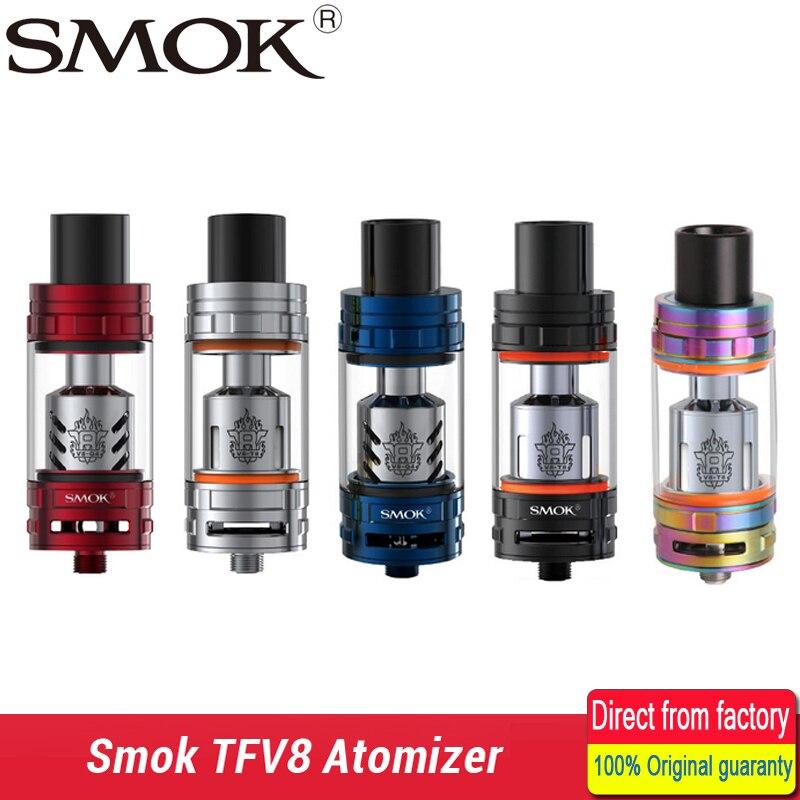 Smok TFV8 TFV8 Atomizzatore 6.0 ml Serbatoio Con V8-T8 V8-Q4 Coil Testa Top-riempimento Controllo del Flusso D'aria Regolabile Serbatoio