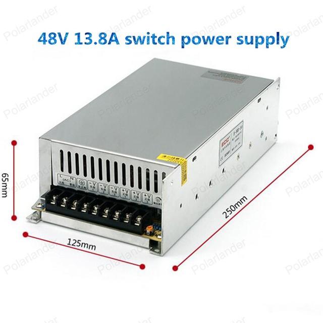 Venta caliente de la CC 720 W 48 V $ NUMBER A fuente de alimentación de Conmutación adaptador de corriente AC 100-240 V envío gratis