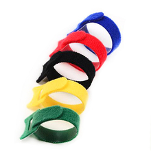 300Pcs 20cm Reusable Adhesive hooks and loops Cable Ties wiring harness organizer cord self adhesive fastener band tape