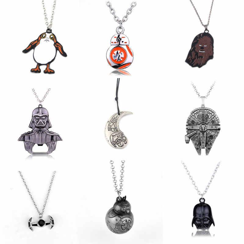 14 видов стилей Звездные войны колье ожерелье космический корабль подвески ожерелья для женщин мужчин ювелирные изделия подарок